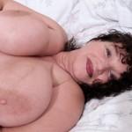 Busty wife Kim nude and rude